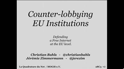 Counterlobbying EU institutions