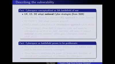 Towards a Single Secure European Cyberspace?