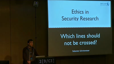 Ethics in Security Research