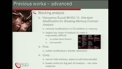 Defeating Windows memory forensics