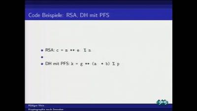 Kryptographie nach Snowden