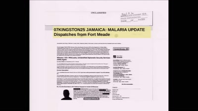 07KINGSTON25 JAMAICA: MALARIA UPDATE Dispatches from Fort Meade