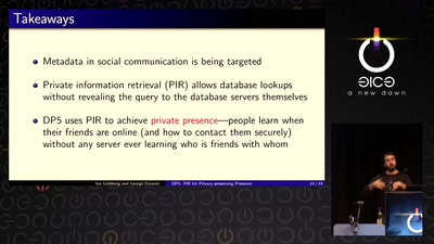 DP5: PIR for Privacy-preserving Presence