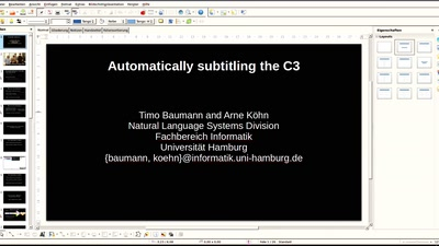 Automatically Subtitling the C3