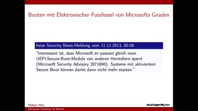 Microsofts Windows 10 Botnet