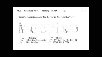 Compileroptimierungen für Forth im Microcontroller