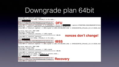Downgrading iOS: From past to present