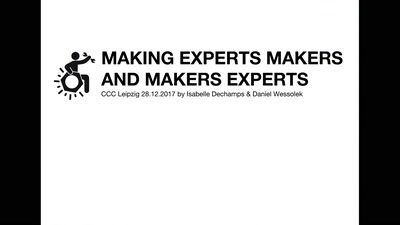 Making Experts Makers and Makers Experts