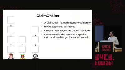 Modern key distribution with ClaimChain
