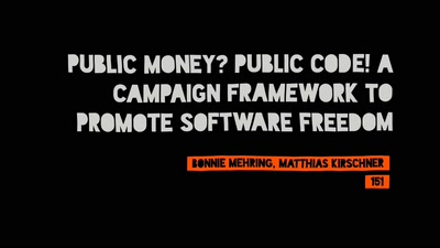 Public Money? Public Code! A campaign framework to promote software freedom