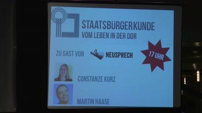 Staatsbürgerkunde: Martin Fischer, Martin Haase, Constanze Kurz