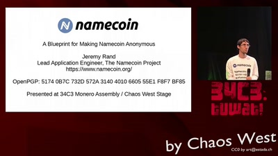A Blueprint for Making Namecoin Anonymous