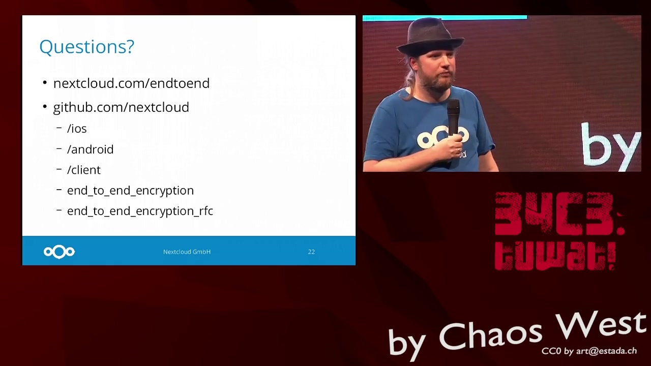 media ccc de - Nextcloud End to End Encryption