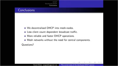Distributed DHCP