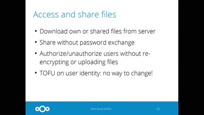 End-to-end encryption for secure, zero-knowledge file sync & share
