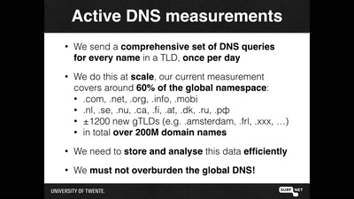 OpenINTEL: digging in the DNS with an industrial size digger