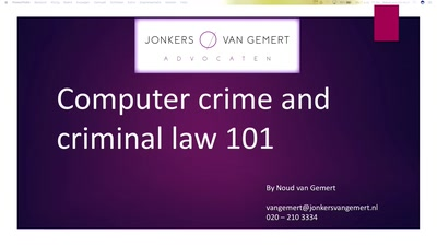 Computer crime and criminal law 101