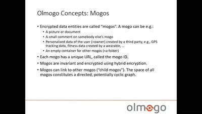 Olmogo - because it's your data!