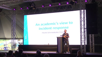 An academic's view to incident response