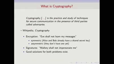 Cryptography beyond Encryption and Signatures