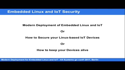 Modern deployment for Embedded Linux and IoT