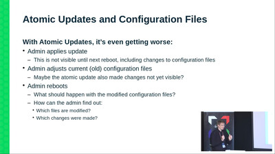 Atomic updates and configuration files in /etc