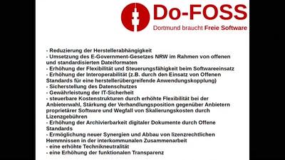 Do-FOSS - Freie Software in Kommunen: Vom Sollen zum Wollen
