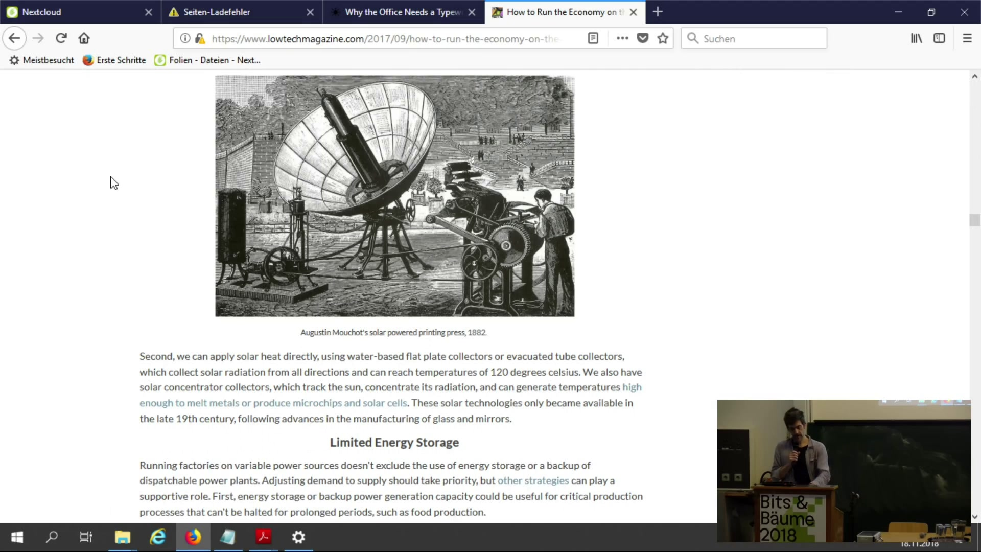 media ccc de - How to build a solar powered website?