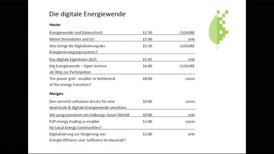 Digitale Energiewende: Überblick & Elevator Pitches