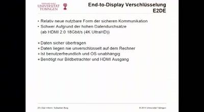 End-to-Display Verschlüsselung zur Verschleierung von Kontakten