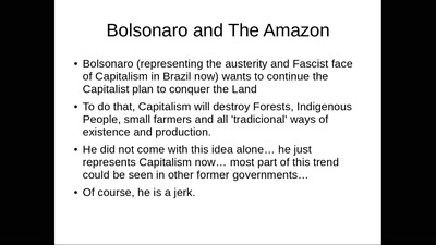BOLSONARO IS AN ENVIRONMENTAL CATASTROPH!