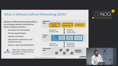 SDN control of disaggregated optical transport networks