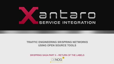 Traffic Engineering SR/Spring networks using Open Source Tools