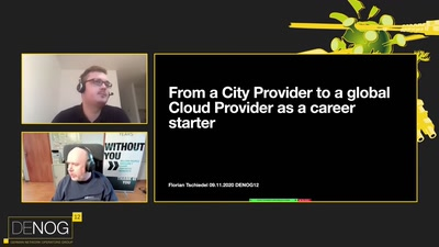 From a City Provider to a Global Cloud Provider as a career starter