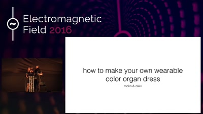 How to make your own wearable color organ dress