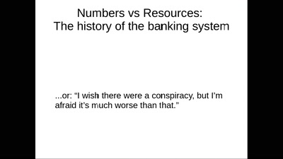 Numbers vs Resources: The History of Banking