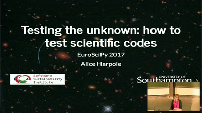 Testing the unknown: how to test scientific codes