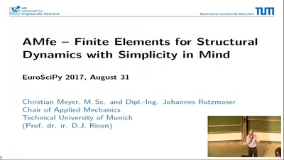 AMfe - Finite Elements for Structural Dynamics with Simplicity in Mind