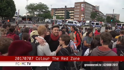 Polizeistrategie gegen Farbe – Colour the Red Zone, Graswurzel TV