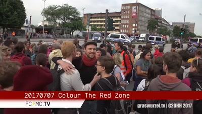 Polizeistrategie gegen Farbe – Colour the Red Zone, Graswurzel TV