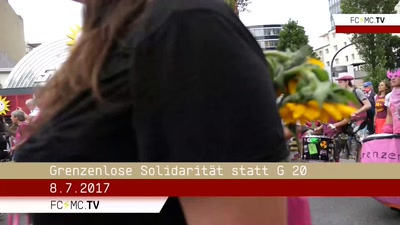 Interviews auf der Solidarity without Borders Demonstration