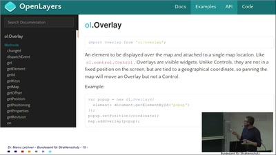 Fortgeschrittene OpenLayers-Overlays im BfS Web-Client