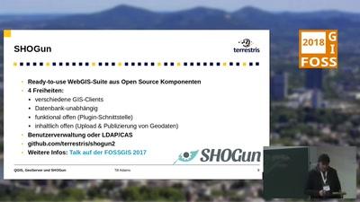 QGIS, GeoServer und SHOGun im Zusammenspiel