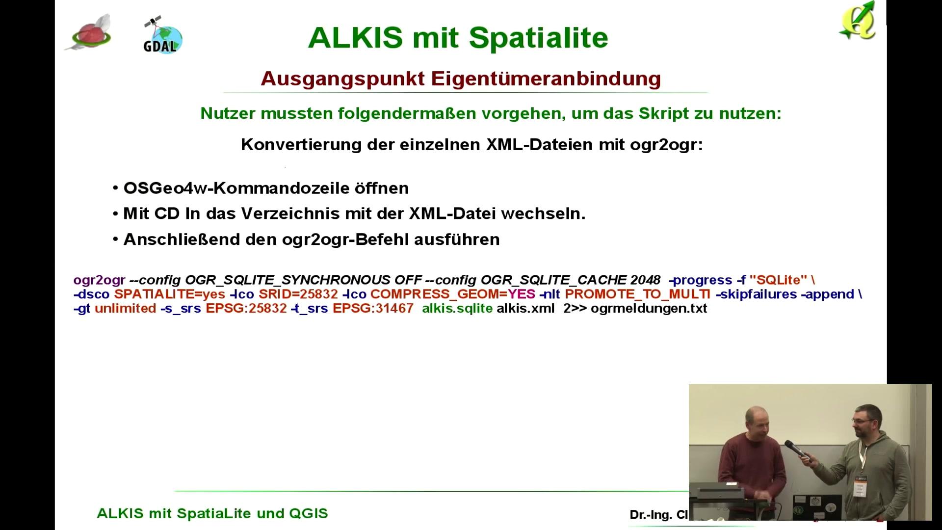 media ccc de - ALKIS kompakt mit SpatiaLite