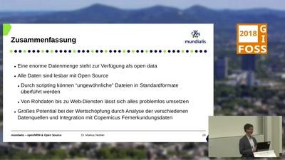 OpenNRW und Open Source: Verarbeitung von Open (Geo-)Data aus NRW mit Open Source Tools
