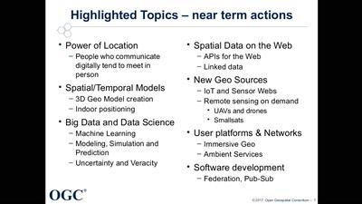 Tech trends und Neues aus dem OGC