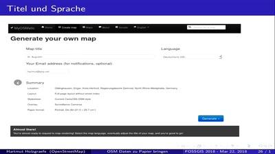 OSM Daten zu Papier bringen