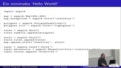 OSM Daten mit Mapnik und Python rendern
