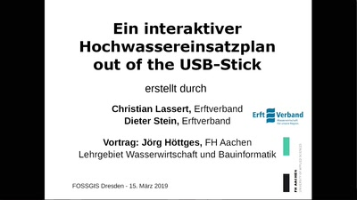 Ein interaktiver Hochwassereinsatzplan out of the USB-Stick