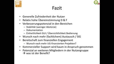 Ergebnisse der Umfrage zur QGIS-Nutzung in der Schweiz